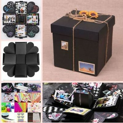 Explosion Box DIY Scrapbook Photo Album Accessories Funny Cards Stickers Ribbons