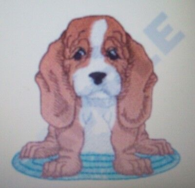 Basset Hound Dog Breed SET OF 2 HAND TOWELS EMBROIDERED
