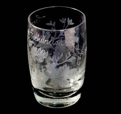 Antique Victorian engraved CENTURY EXHIBITION 1900 'Jane' glass tumbler