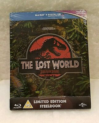 Jurassic Park the Lost World STEELBOOK Blu Ray UK Sold Out Region Free Embossed