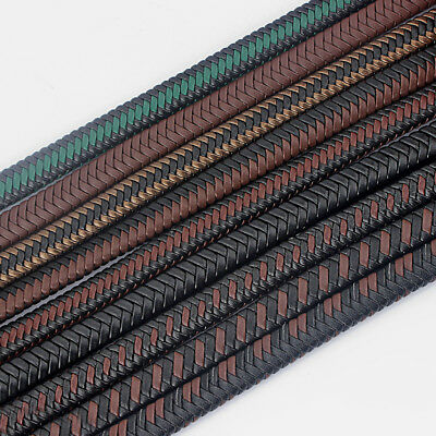 1 Meter High Quality 12x6mm Bolo Braided PU Leather Necklace Bracelet Cord