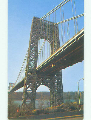 Pre-1980 BRIDGE SCENE Fort Lee New Jersey And New York City New York NY HQ9677