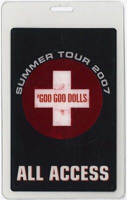 Goo Goo Dolls authentic 2007 concert Laminated Backstage Pass Summer Tour AA