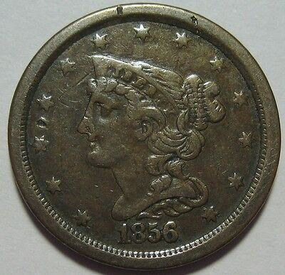 = 1856 Half Cent, Low Mintage 40K, Nice EYE Appeal, FREE Shipping