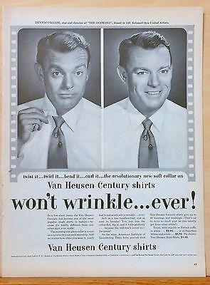"1954 magazine ad for Van Heusen - Dennis O'Keefe star of 3-D film ""The Diamond"""