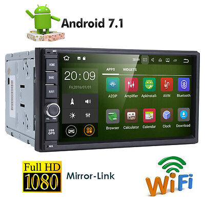 "Quad Core Android 7.1 16GB+2G 7"" Double 2DIN Car Radio Stereo DAB+ OBD2 GPS Navi"