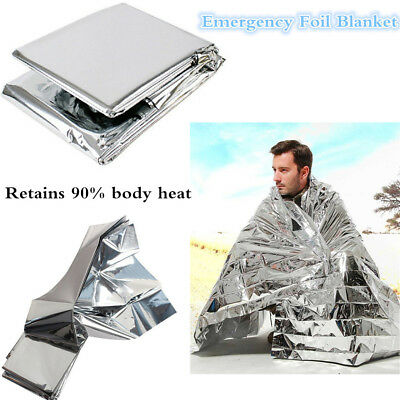 Emergency Foil Thermal Blanket Survival Baby Sensory First Aid Camping HU