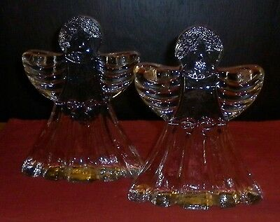 Parker Eames Era Pair Funky Angel Candlesticks  Good Condition