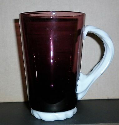 Vintage Handblown Amethyst Glass Mug  Excellent Condition