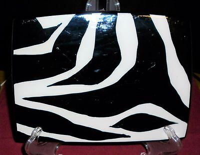 Vintage  Hand Painted  Australian Pottery Zebra Plate Exc-Condition
