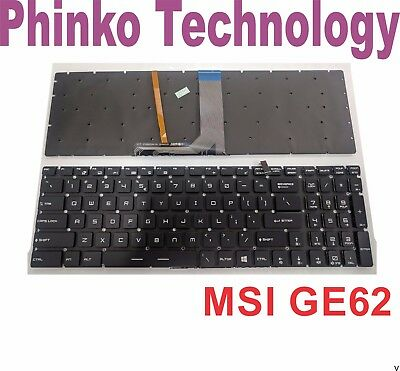 BRAND NEW Keyboard for MSI GE62 GE72 GS60 GS70 GT72 GT72S Gaming Laptop Backlit