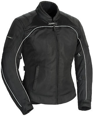 Tourmaster Intake Air 4 Women's Textile Jacket [Black/Black, Lg]