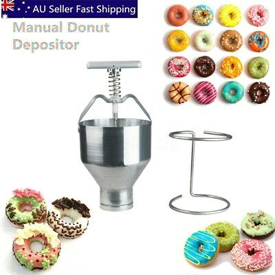 Manual Donut Depositor Medu Vada Dropper Plunger Dough Batter Dispenser Hopper