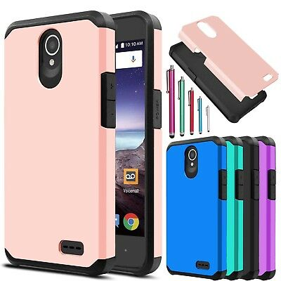 For ZTE Maven 3 / Overture 3 Shockproof Hybrid Impact Hard Slim Phone Case Cover