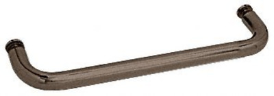 """CRL 12"""" Oil Rubbed Bronze BM Series Single-Sided Towel Bar without Metal Washers"""