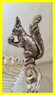 Circa 1920's Wmf Silver Plated Large Novelty Nut Dish,squirrel Holding Nut