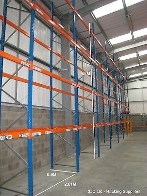 10 Bays Dexion Speedlock Warehouse Pallet Racking 4.2M Tall x 2.61M Bays
