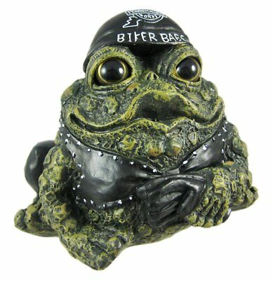 Toad Hollow Biker Babe Frog Statue Born To Ride Motorcycle