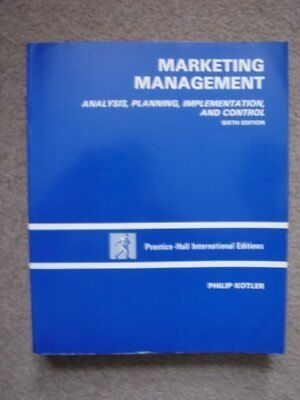 Marketing Management: Analysis, Planning and Control-Philip Kotler