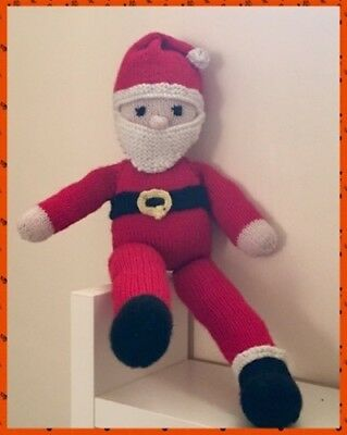 Knitting Pattern Father Christmas Rag Doll Santa Rag Doll Eur