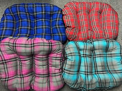 Oval Dog Cushion Tartan