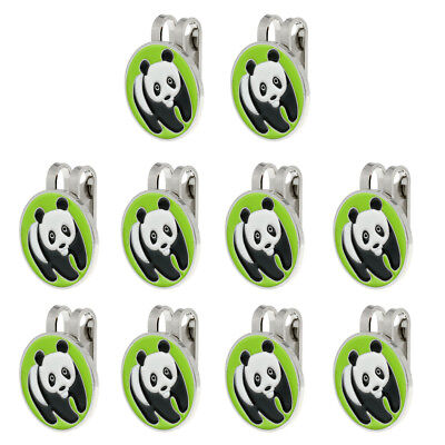 10X Alloy Panda Golf Ball Marker with Magnetic Hat Clip Golf Accessory