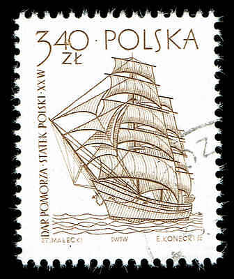 Scott # 1213 - 1964 - ' Dar Pomorza, 20th Century School Ship ', Sailing Ship
