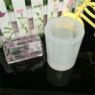 Silicone Pen Pot Cup Mold Jewelry Making Cube Resin Casting Mould Craft Tool