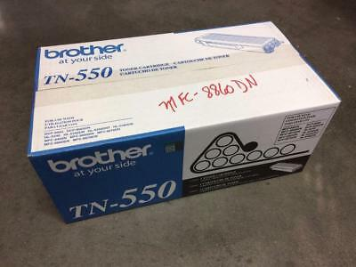 New Sealed Oem Genuine Brother Tn-550 High Yield Black Toner Cartridge