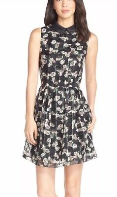 6dadc7bffcc ERIN erin fetherston Cara Floral Organza Fit   Flare Dress Size 6  Anthropologie
