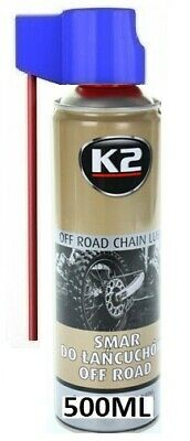 K2 CHAIN LUBE SPRAY SYNTHETIC CHAIN OIL FOR ALL MOTORCYCLE CHAINS BIKES 500ml