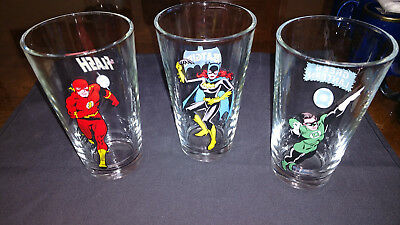 "Flash Batgirl or Green Lantern Glass Tumbler 6"" 2000 DC Comics"