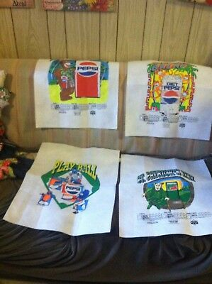 4 Vintage Posters Pepsi Diet Pepsi Mountain Dew to sell t-shirts flexible canvas