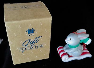 Vintage 1992 Avon Gift Collection Frosty Treats Rabbit Ornament NIB