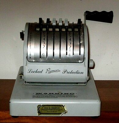 Vintage Paymaster X-550 7 Column Check Writing Machine Working Condition No Key