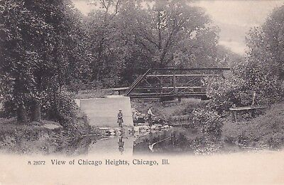CHICAGO, Illinois, 1909 ; View Of Chicago Heights