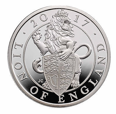 1 Ounce Silver Proof Queens Beasts Lion of England 2 £ UK 2017 Royal silber