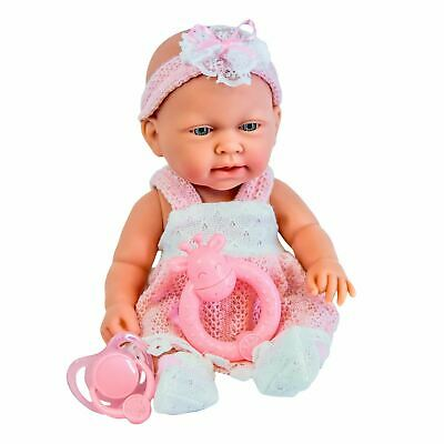 "10"" Baby Doll Play Set with Feeding Accessories Milk Bottle Girls Toy"