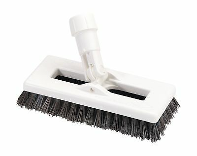 "Carlisle 363883103 Swivel Scrub Brush 8"" Black 1 Pack"