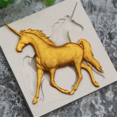 Silicone Unicorn Horse Cake Chocolate Mould Fondant Sugarcraft Baking Mold