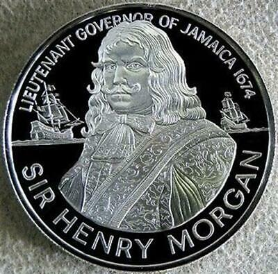 1974 Silver Proof Jamaica $10 Sir Henry Morgan Lieutenant Governor 1. 27 Oz