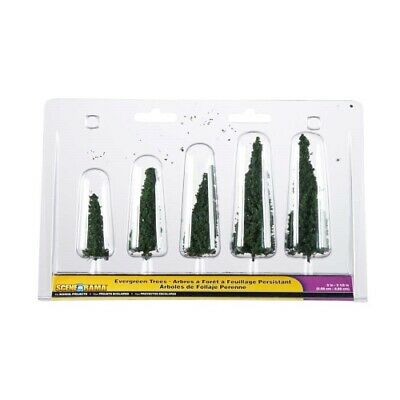 "NEW Woodland Scenics Scene-A-Rama Evergreen Trees (5Pack) (2"") SP4154"