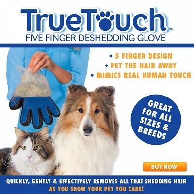*Buy American* True Touch Deshedding Grooming Glove Dog Cat Pet As Seen On TV