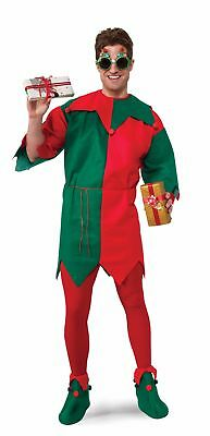 Economy Elf Tunic Top Red Green Adult Costume Accessory One Size NEW Christmas
