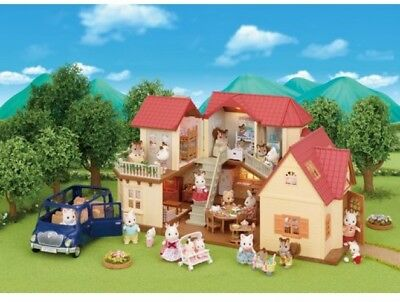 Christmas Gift Sylvanian Families Beechwood Hall And Cosy Cottage Toys PlaySet