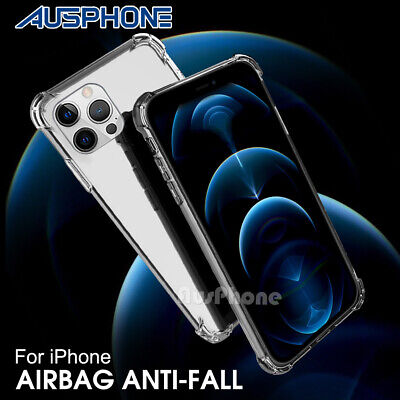 NEW Shockproof Tough iPhone 8 / 7 Plus X 6S Hard Gel Clear Case Cover for Apple