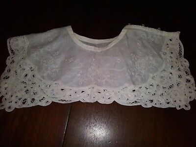 White Battenburg Lace Collar for Women Gently Used