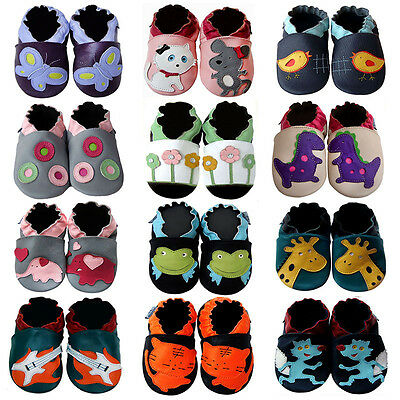 Cozy Boutique Baby Boy Girl Leather Shoes 0-5 Y (Soft Sole/Rubber Sole) Booties