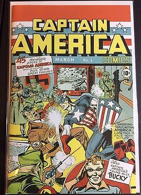 Captain America Comics #1 Reprint(Custom Cover over Modern Published REPRINT)
