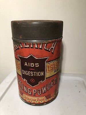 Vintage America Baking Powder One Tin Can  Empty